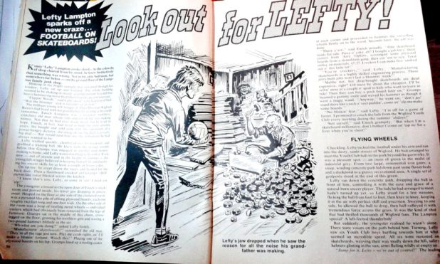 """Look out for Lefty"" spot illustration for the 19778 Action Summer Special"
