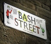 One of Scotland's first-ever illustrated street signs