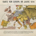 Cartoon Map of Europe 1914