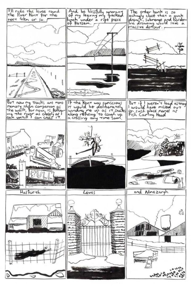 "A Page from ""The Homesick Truant's Cumbrian Yarn"" by Oliver East"