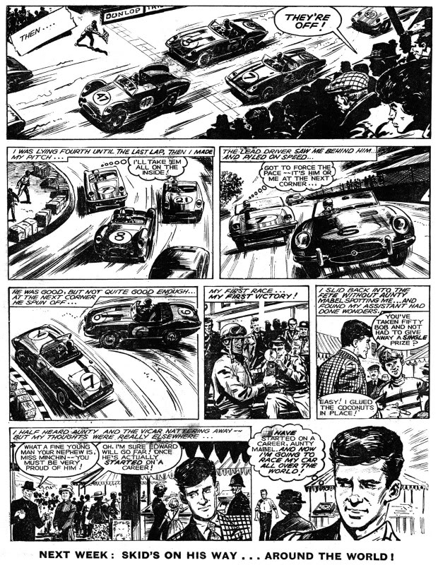 A page from Skid Solo's second appearance in Hurricane Issue 2, published in 1964