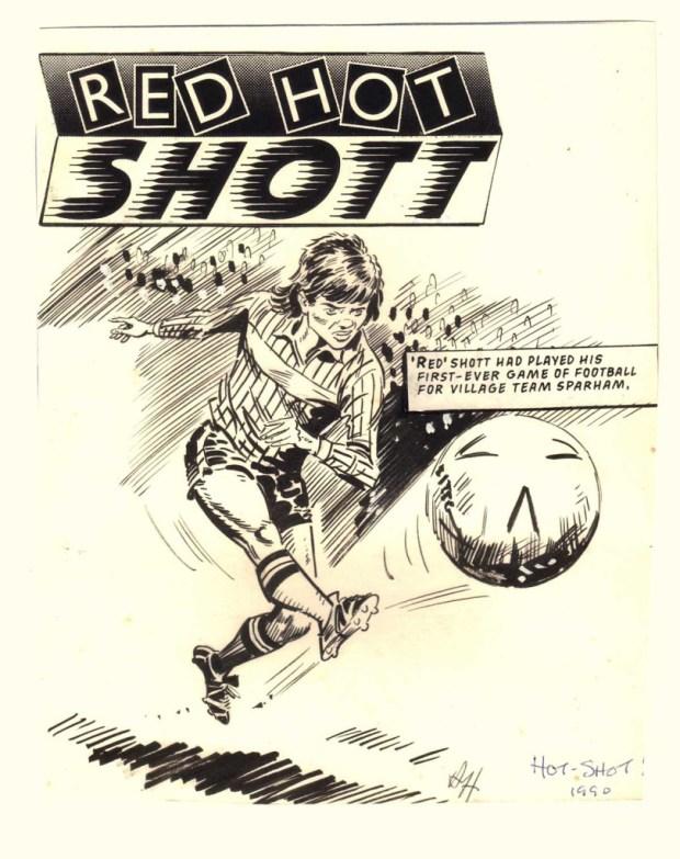 """Red Hot Shott"" - drawn in 1990 by Tony Harding."
