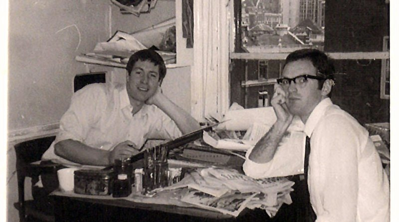 Tony Harding and Barrie Mitchell at London-based Link Studios, sometime in the late 1950s or early 1960s. Picture courtesy Antony Harding.
