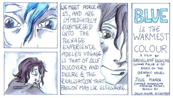 Excerpt from Blue is the Warmest Colour review by Sally-Anne Hickman