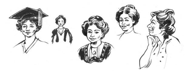 Some of Kate Charlesworth's designs for Christabel Pankhurst. © Kate Charlesworth