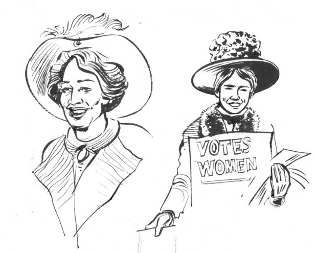 Just some of Kate Charlesworth's designs for Emily Pankhurst. © Kate Charlesworth