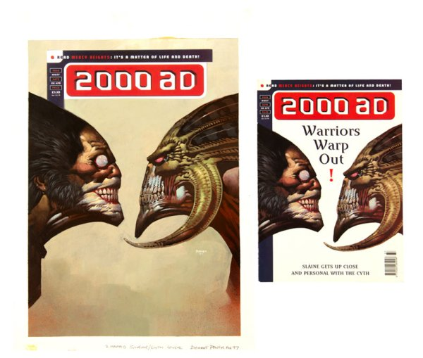 2000AD 1037 Cover by Dermot Power