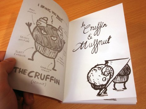 The frontispiece for he Cruffin and Muffnut, a story of unrequited love by Alex Hahn