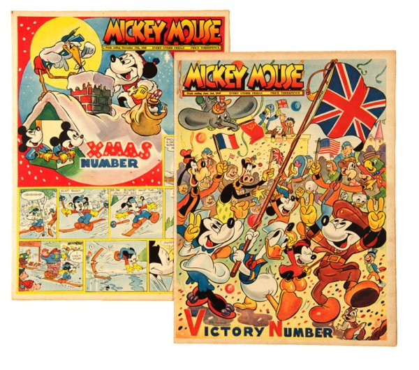 Issues of Mickey Mouse Weekly from 1945