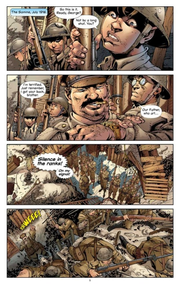 """British troops prepare to go """"over the top"""". Art © Campfire"""