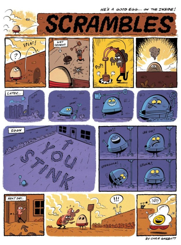 Scrambles - just one of the strips that features in Moose Kid Comics #1