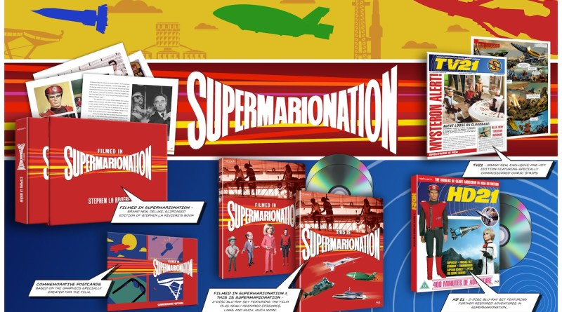 """Promotional image fo Network's Limited Edition Blu-Ray release """"Supermarionation"""" which includes TV21 Issue 243, a modern continuation of the 1960s comic."""