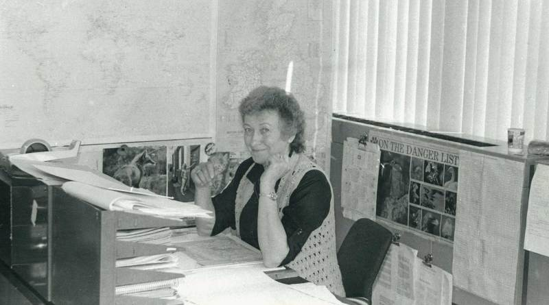 Jan Shepheard, art editor on Valiant and 2000AD. Photo © Sue Smith, used with permission.
