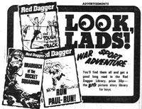 An ad promoting Red Dagger in Victor issue 155