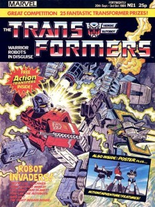 The first issue of Marvel UK's long-running Transformers title