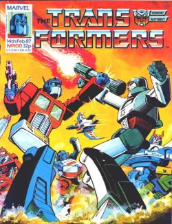 Transformers Issue 100. Cover by Alan Davis.
