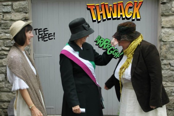 "A suitably ""comic stripped"" promotional image for Kendal Community Theatre's recent production ""Oh What a Lovely War"""