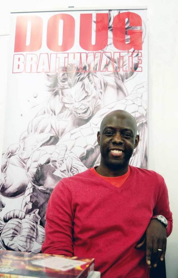 Comic artist Doug Braithwaite