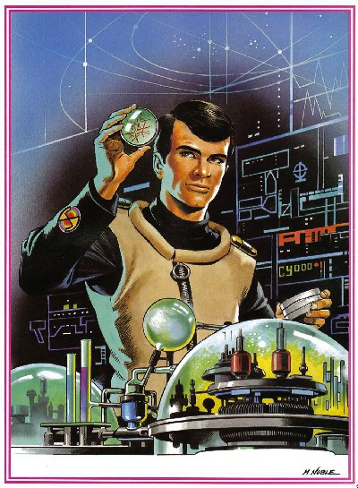 "A portrait of Doctor Fawn from ""Captain Scarlet and the Mysterons"" by Mike Noble."
