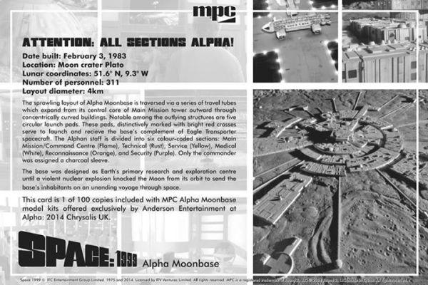 Promotional Space: 1999 Moonbase Kit Postcard - Back