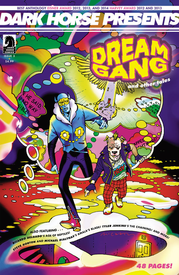 "War is being waged while you sleep, and it's a nightmare, in Brendan McCarthy's ""Dream Gang"", featuring in Dark Horse Presents #3. Plus alongside other stories, there's a new chapter of Peter Hogan and Steve Parkhouse's ""Resident Alien""."