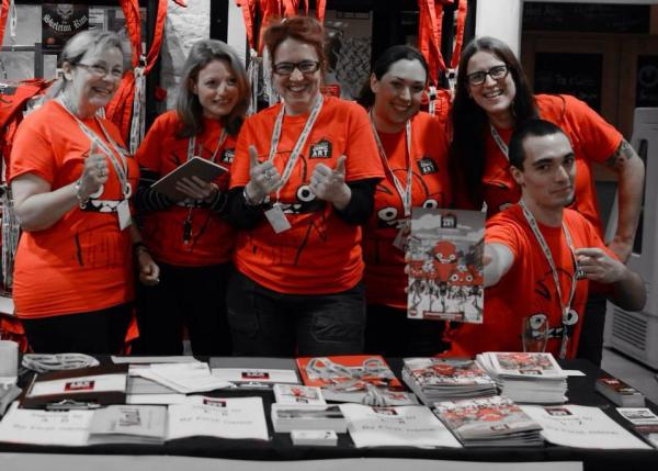 Just some of the fantastic team of volunteers who worked around the clock to make the 2014 Lakes International Comic Art Festival a success. Image: Lakes International Comic Art Festival