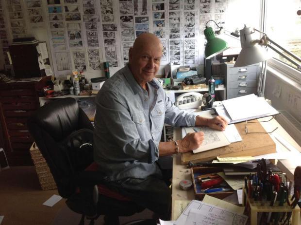 Martin Asbury in his studio