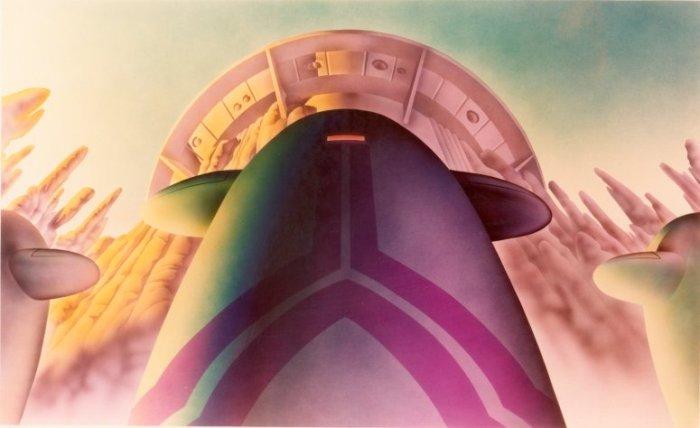 Angus McKie's design for the Mekon's headquarters.
