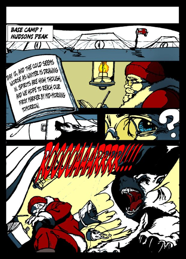 The 'online graphic novel' version of the same sequence from The Gold of Ragnorak.