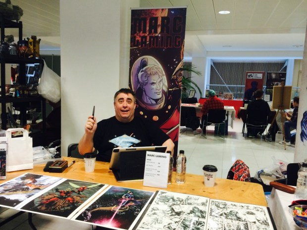 Marc Laming at Nottingham Comic Con 2014. Photo: Antony Esmond
