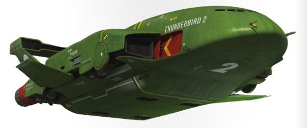 The new Thunderbird 2 for Thunderbirds Are Go