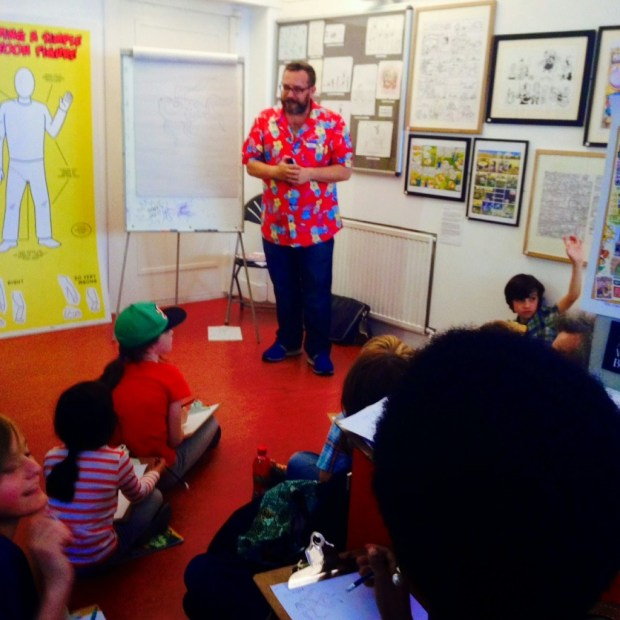 Gary Northfield, shaping the minds of the nation's youth at the Cartoon Museum