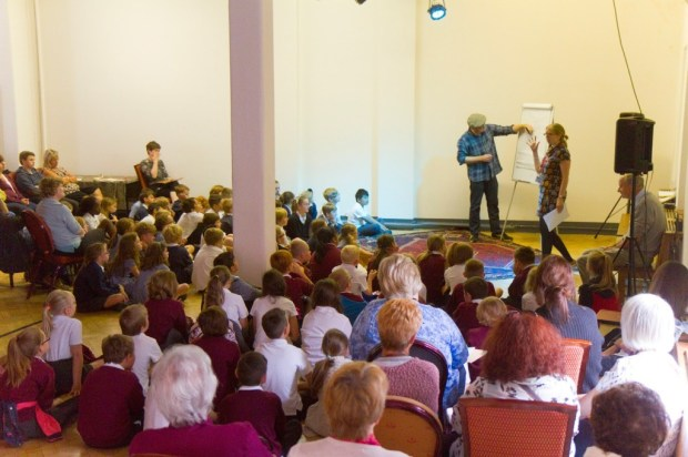 Photo from Maggies' Day comics workshops at the Story Museum, used with permission.