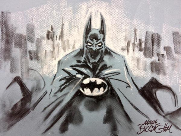 A Batman sketch by Mark Buckingham which Lakes International Comic Art Festival hope will help raise funds for next year's projects.