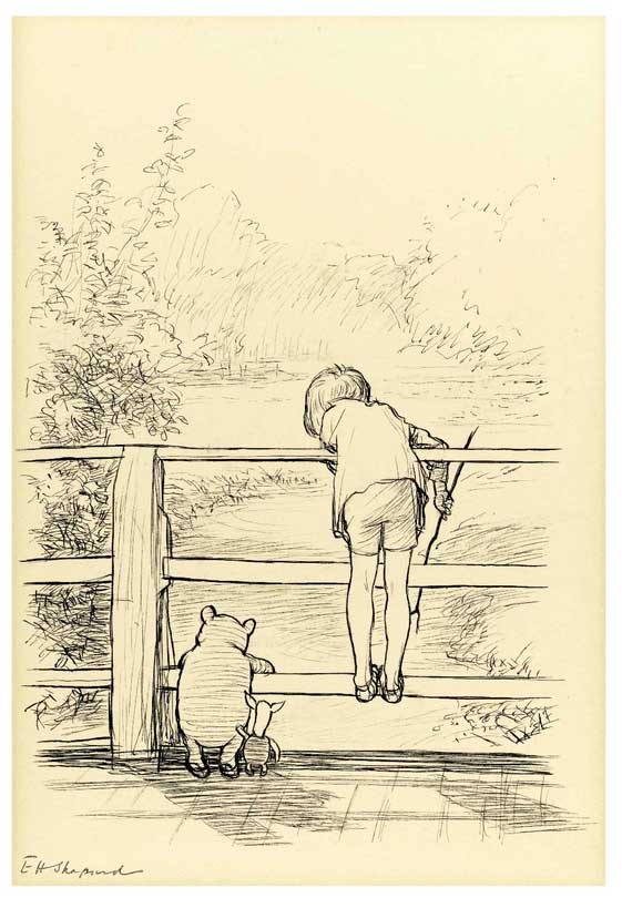 """Poohsticks Bridge"" by E.H. Shepard"