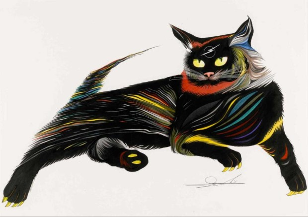 Cats-inspired art by Mike Margolis