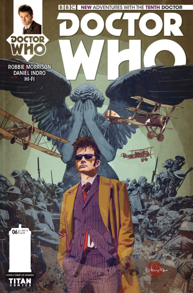 Doctor Who: Tenth Doctor #6: Cover A by Tommy Lee Edwards