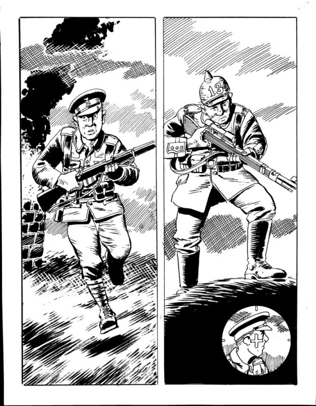 Artwork from Commando 4679 by Keith Page, story by George Low