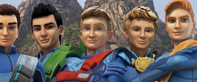 The new-look Tracy Brothers of International Rescue - Scott, Virgil, Alan, Gordon and John. Photo © ITV