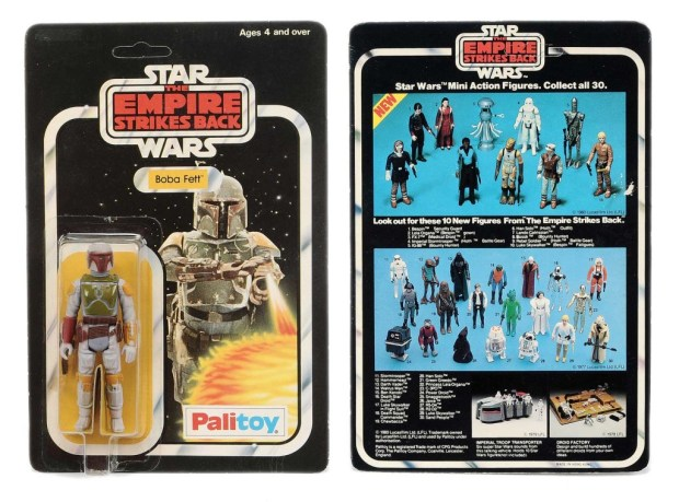 A 30B back Boba Fett on a Palitoy Star Wars The Empire Strikes Back with un-punched card