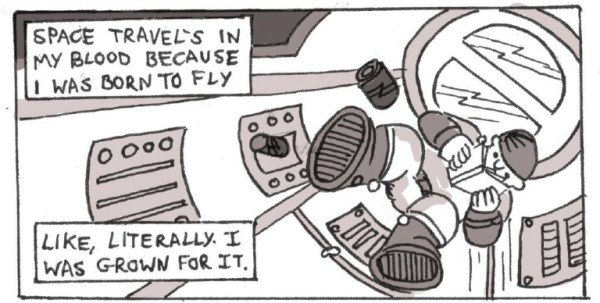 50 Signal: A Comic About Space Exploration - Sample Panel