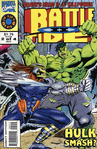 Will Battleworld see another battle between Death's Head II and The Hulk, as seen  in a lesser-known Marvel UK title?