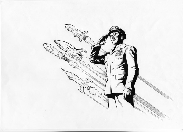 Dan Dare Character Design by Joe Pimentel for Print Media