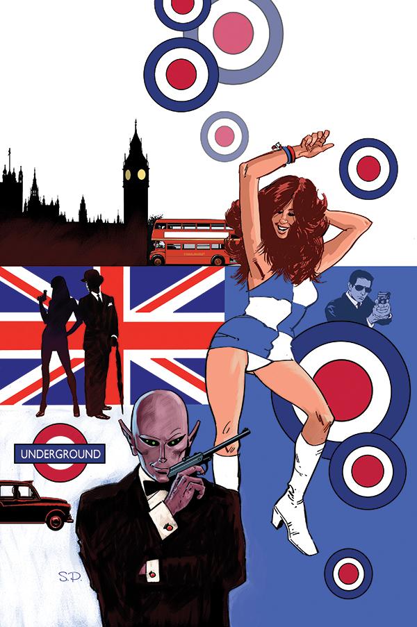 Steve Parkhouse's cover for Resident Alien: The Sam Hain Mystery #1
