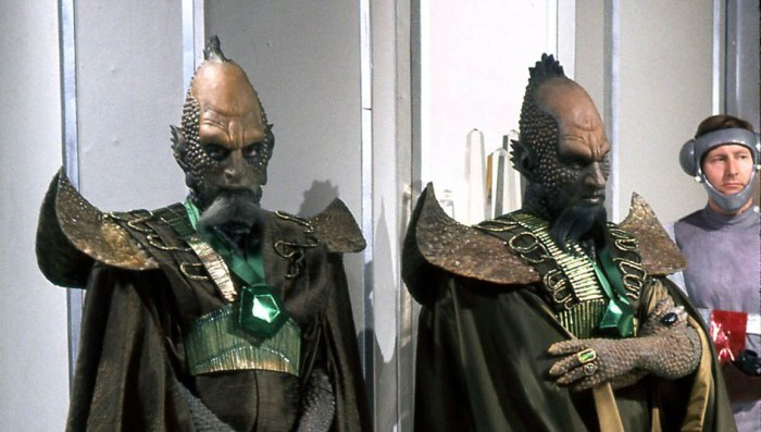 """Draconians from """"Doctor Who: Frontier in Space"""". Image: BBC"""