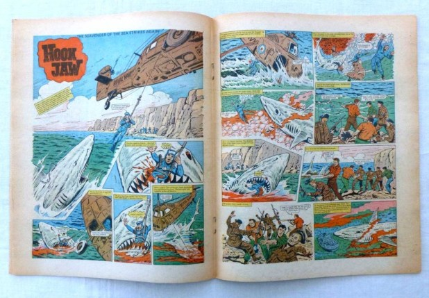 """The opening spread of """"Hookjaw"""" from Action Issue 37, offerd on eBay in 2015."""