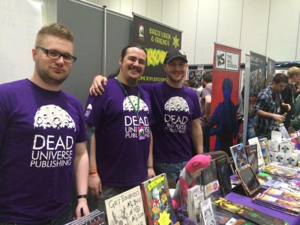 Jon Scrivens, Brett Uren and Patman Cline of Dead Universe Publishing. Photo: Antony Esmond