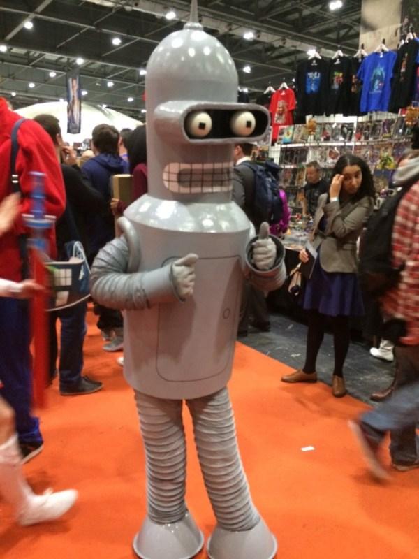 Futurama's Bender visits the London MCM Expo. Photo: Antony Esmond