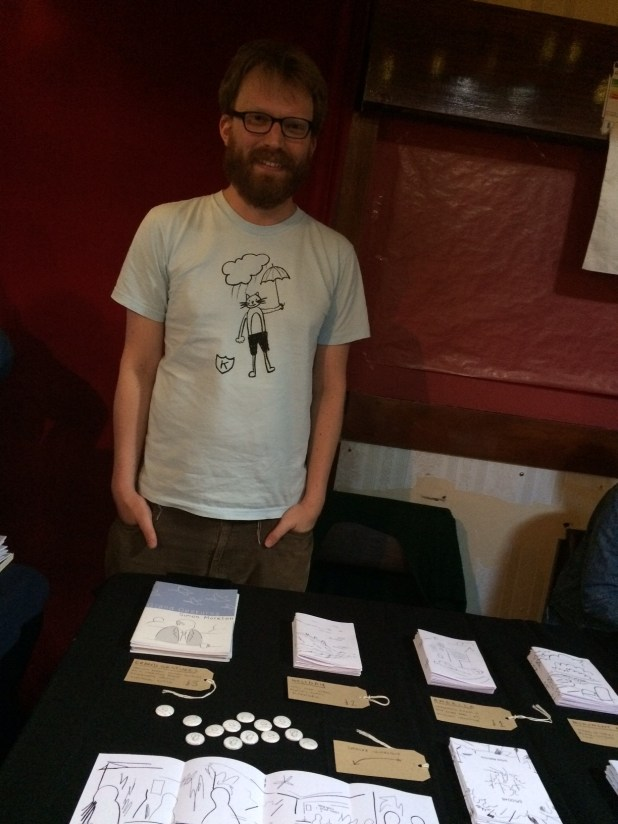 Simon Moreton at Crouch End Comic Arts Festival 2015. Photo: Antony Esmond