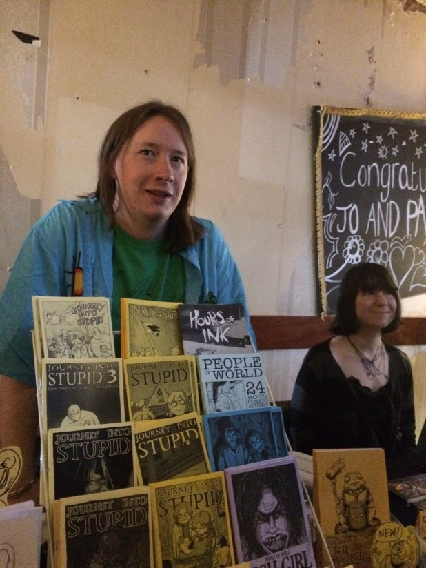 Claude T.C. at Crouch End Comic Arts Festival 2015. Photo: Antony Esmond